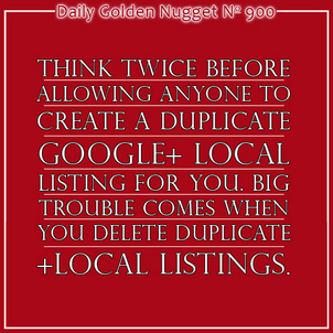Case Study of Duplicate Google+ Local Listings