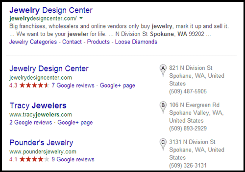 Jewelry Design Center Website Review 1075-serp-for-jewelers-in-Spokane-WA-8