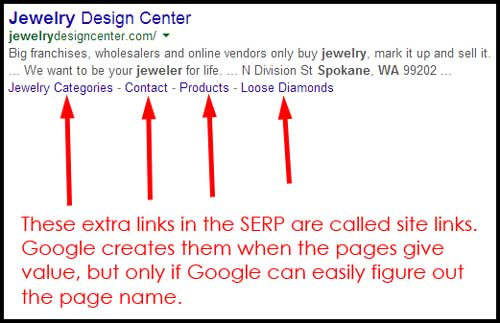 Jewelry Design Center Website Review 1075-serp-site-links-72