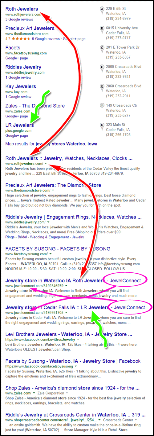 Roth Jewelers & LR Jewelers Website Review 1090-jewelr-stores-Waterloo-Iowa-serp-63