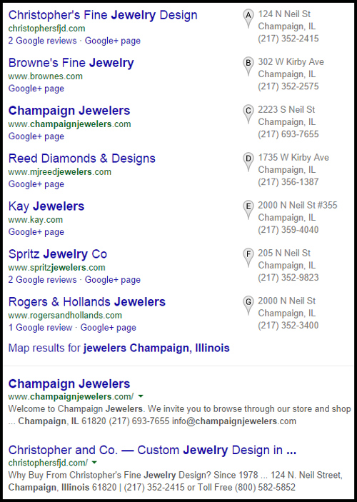 Champaign Jewelers Website Review 1095-jewelers-champaign-il-serp-86