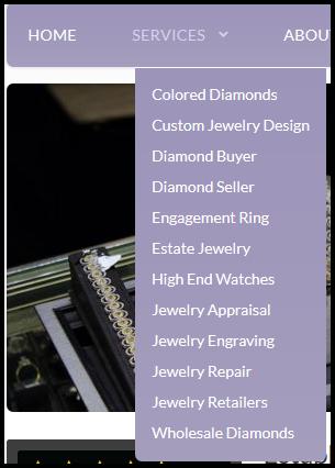 Village Jewelers Website Review 1098-over-optimized-navigation-menu-63