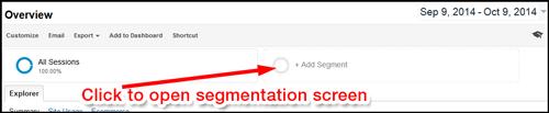 Google Analytics: Segmenting Mobile Traffic 1101-click-to-open-segmentation-93