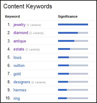 Keyword Rank Analysis and Improvement Methods 1144-webmaster-tools-content-keyword-list-30