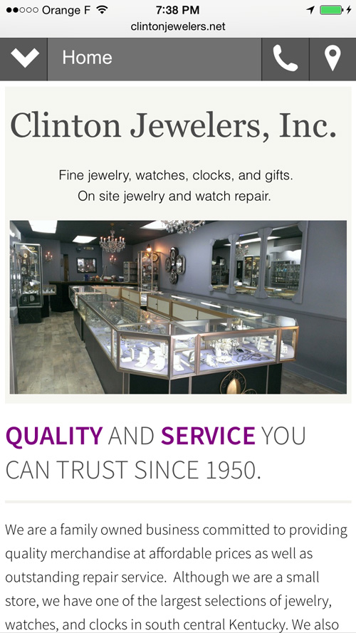 Clinton Jewelers Website Review 1160-clinton-mobile-home-page-42