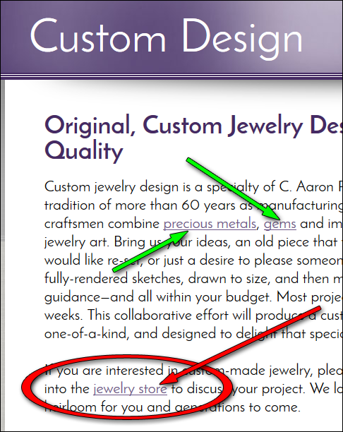 C. Aaron Penaloza Jewelers Website Review  1170-jewelry-store-internal-link-33