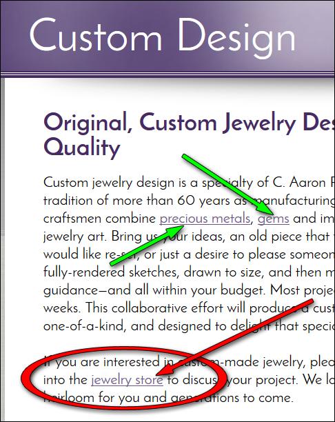 C. Aaron Penaloza Jewelers Website Review  1170-jewelry-store-internal-link-33