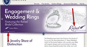 C. Aaron Penaloza Jewelers Website Review  1170-rafael-home-page-4