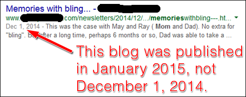 Blog Post Timestamps and How They Appear to Google 1187-jeweler-serp-84