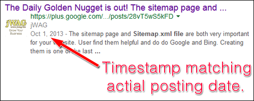 Blog Post Timestamps and How They Appear to Google 1187-jwag-serp-31