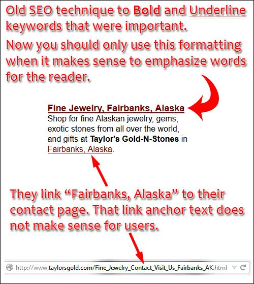 Taylors Gold-n-Stones Website Review 1205-seo-bold-underline-url-93