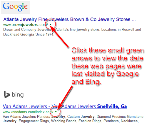 Google and Bing Web Page Cached Dates 1219-google-bing-59