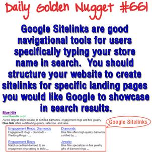Understanding Google Sitelinks 1226-daily-golden-nugget-661