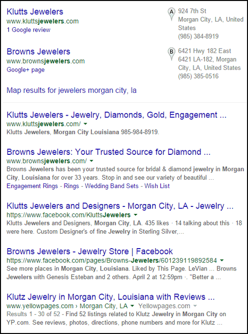 Klutts Jewelers Website Review 1230-morgan-city-la-serp-40