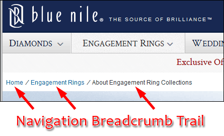 Breadcrumbs Leave Helpful Trails For Mobile Users 1244-blue-nile-breadcrumbs-44