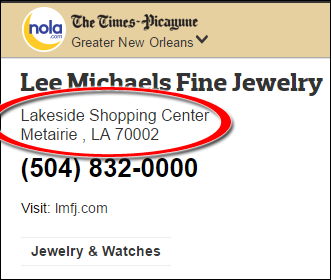 SEO Ranking Comparison Between Two Competing Jewelry Websites 1246-lee-michaels-nola-2
