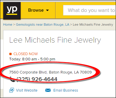SEO Ranking Comparison Between Two Competing Jewelry Websites 1246-lee-michaels-yp-40