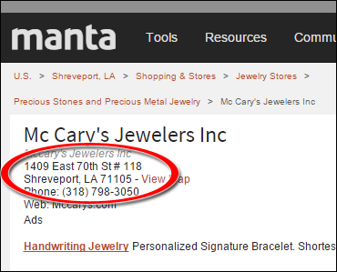 SEO Ranking Comparison Between Two Competing Jewelry Websites 1246-mccary-manta-15
