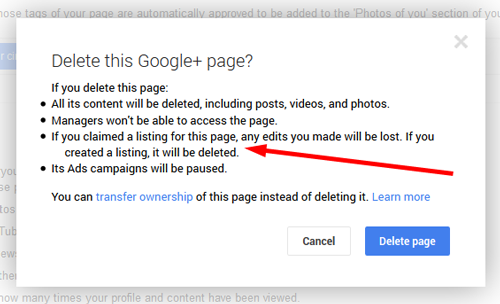 how to delete google business