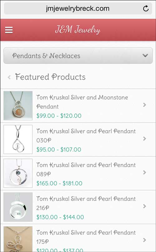 J&M Jewelry Mobile Website Review 1275-pendants-necklaces-14