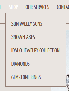 Barry Peterson Jewelers Website Review 1285-drop-down-menu-81