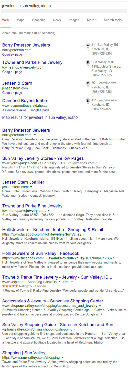 Barry Peterson Jewelers Website Review 1285-serp-jewelers-in-sun-valle...<br />