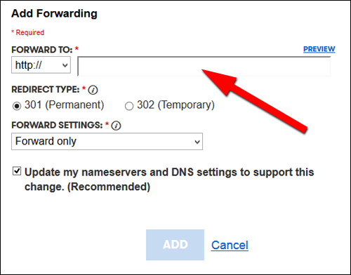 Using Alternative Domain Names: Practical SEO Guide 1302-forwarding-form-14
