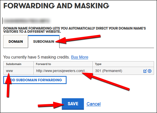 Using Alternative Domain Names: Practical SEO Guide 1302-subdomain-confirm-screen-70