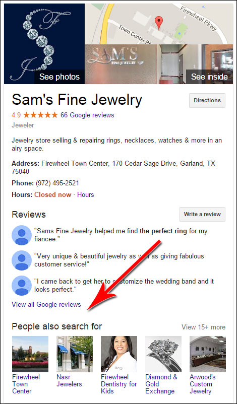 Your Reviews From Other Sites Are Hidden - TBT 1319-new-sams-local-listing-41