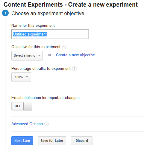 Google Website Optimizer is Now Google Experiments TBT 1334-experiment-setup1-68