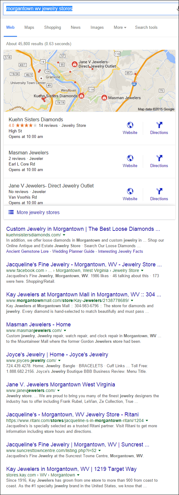Kuehn Sisters Diamonds Website Review 1335-morgantown-wv-jewelry-stores-serp-82