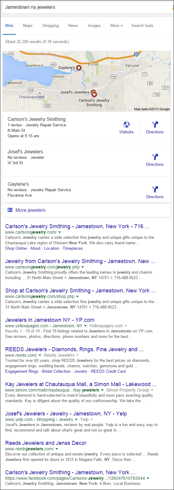 Carlsons Jewelry Smithing Website Review 1350-jamestown-ny-jewelers-serp-37