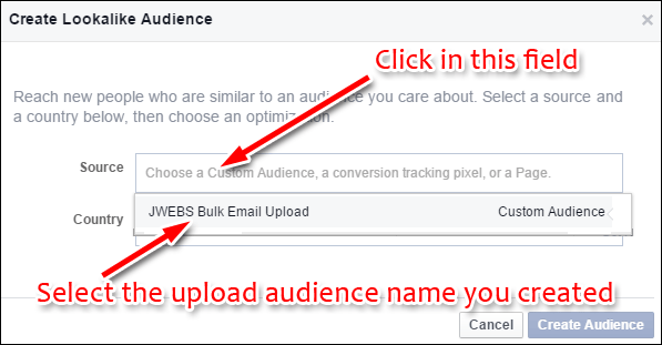 Uploading Your Customer List to Facebook Custom Audience: Holiday 2015 Run-up 1352-create-lookalike-23