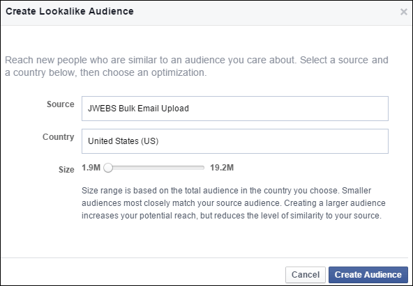 Uploading Your Customer List to Facebook Custom Audience: Holiday 2015 Run-up 1352-create-lookalike-size-45
