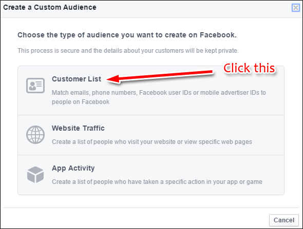 Uploading Your Customer List to Facebook Custom Audience: Holiday 2015 Run-up 1352-customer-list-18