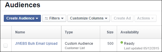 Uploading Your Customer List to Facebook Custom Audience: Holiday 2015 Run-up 1352-email-audience-uploaded-18