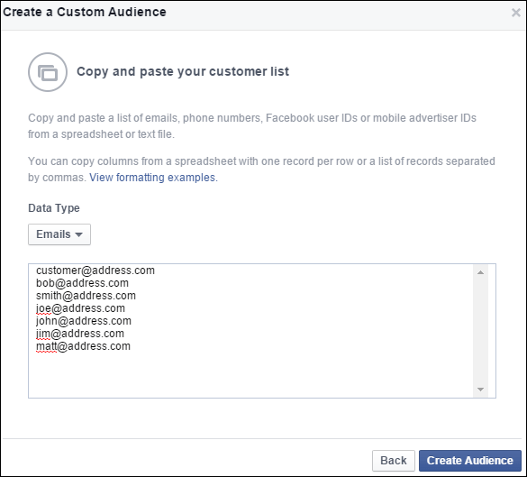 Uploading Your Customer List to Facebook Custom Audience: Holiday 2015 Run-up 1352-import-emails-24