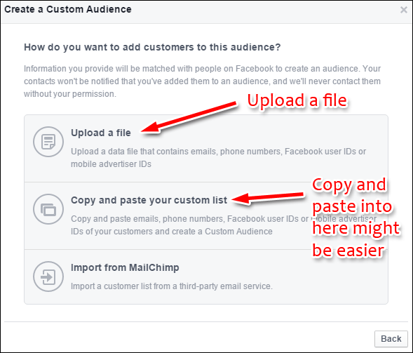 Uploading Your Customer List to Facebook Custom Audience: Holiday 2015 Run-up 1352-upload-list-64