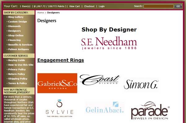 S.E. Needham Jewelers Website Review 1355-designers-page-38