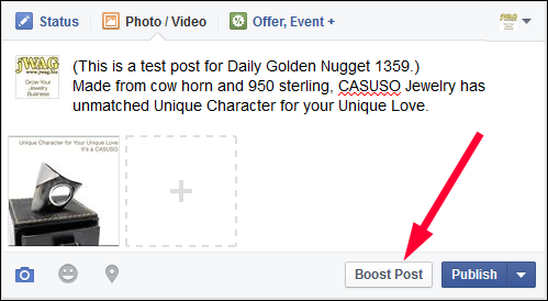 How-to Boost a Facebook Post TBT: : Holiday 2015 Run-up 1359-composing-post-83