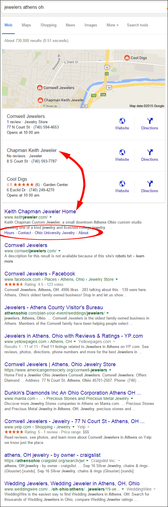 Keith Chapman Jeweler Website Review 1360-jewelers-athens-oh-serp-85