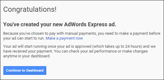 Setting Up Google AdWords Express TBT: 2015 Holiday Run-Up 1369-congratulations-65