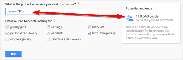 Setting Up Google AdWords Express TBT: 2015 Holiday Run-Up 1369-product-service-89