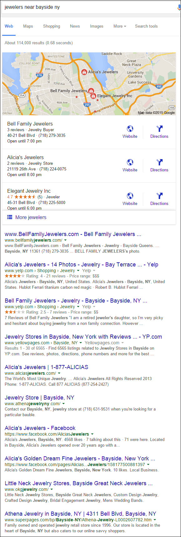 Bell Family Jewelers Website Review 1370-serp-95