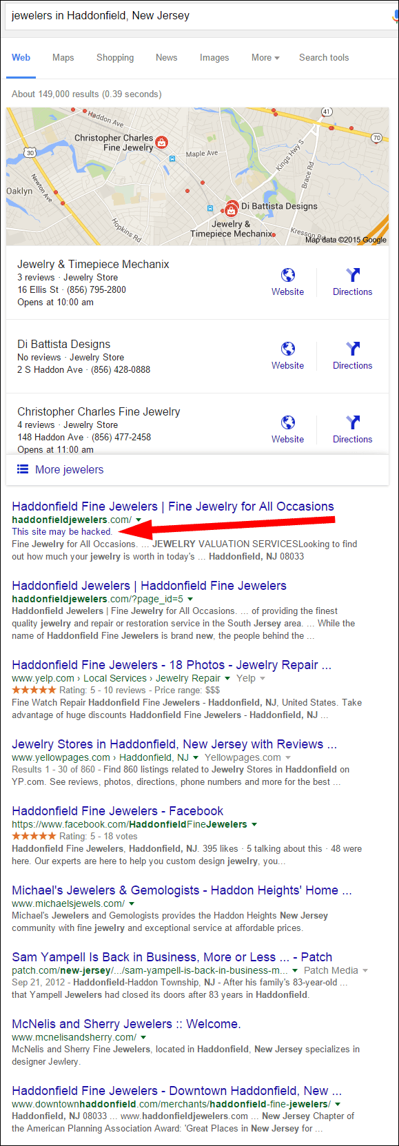 Jewelry & Timepiece Mechanix Website Review 1375-jewelers-in-Haddonfield-NJ-serp-32