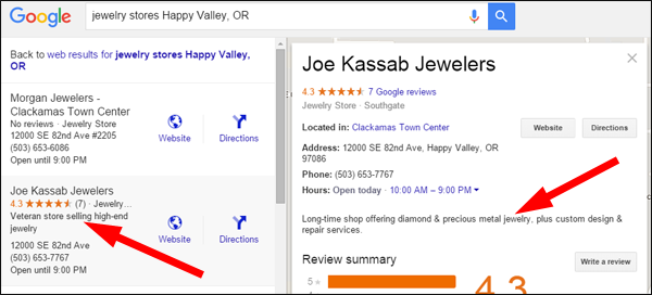Changes to Google Maps Results and Google+ Business Listings 1400-google-employee-description-0