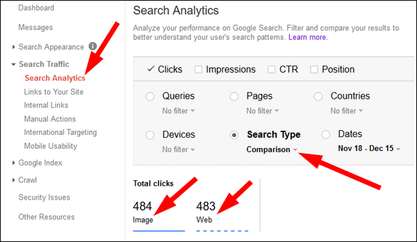 Using Google Image Search and Shared Images to Increase Web Traffic 1411-search-type-94