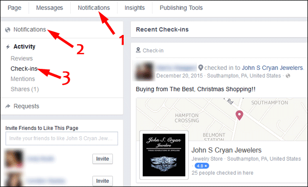 Get Customers to Check-in to your Facebook Page TBT 1439-view-checkins-74