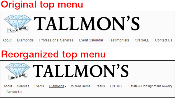 Tallmons Jewelry FridayFlopFix Website Review 1455-top-menu-17