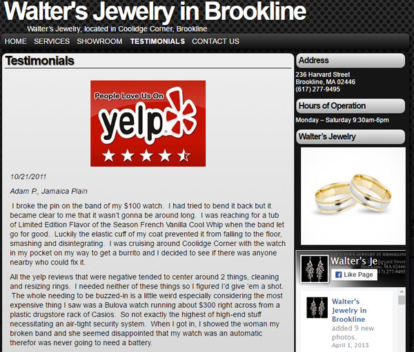 Walters Jewelry FridayFlopFix Website Review 1504-yelp-website-page-5